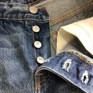27c6db78 Levi's Shorts | Levis 501 Customized Tapered Raw Hem Selvedge 600 ...